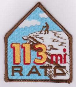 RATC 113 Miler Patch