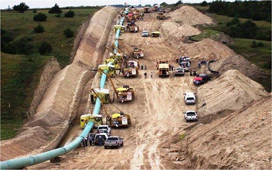 Big pipeline ditch